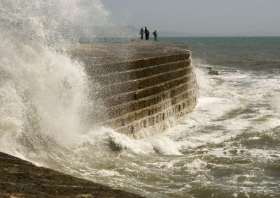 Bursting Wave - The Cobb Lyme Regis