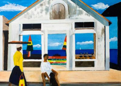 Carriacou Shopping - Rasta Shop, Hillborough. Original Painting on Canvas. 40 x 50cm