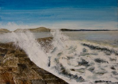 'Cobb Waves' - Original Painting. Acrylic on Canvas. 40 x 30cm