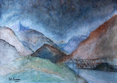 'Shigar Valley' - North Pakistan. Acrylic on Canvas. 40 x 30cm