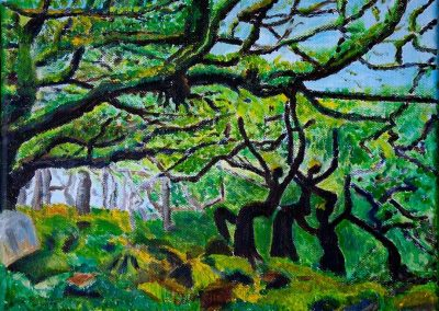 'Woodland Dance' (Summer). Private Collection. Acrylic on Canvas. 30 x 25cm.