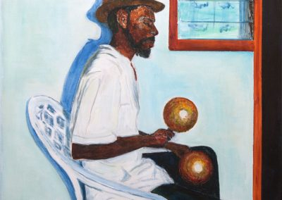 'Boxing Day Serenader' - Carriacou. Private Commission. Acrylic on canvas. 50 x 70cm