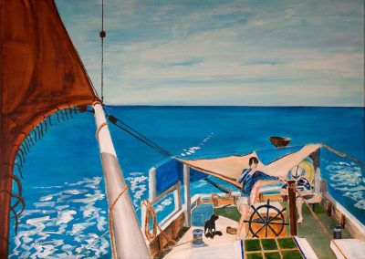 'Mermaid Cruising' - Private Commission. Acrylic on Canvas. 70 x 50cm