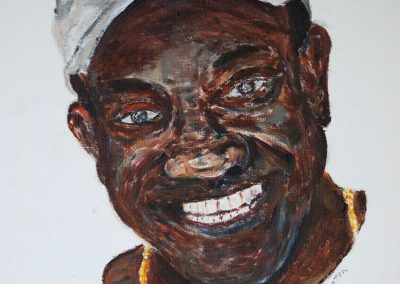 'Poco' - Owner of Henrietta's Bakery, L'Esterre, Carriacou. Acrylic on Canvas. 25 x 30cm.
