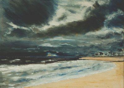 'Lyme Regis Front Beach' - Original Painting. Acrylic on Canvas. 30 x 20cm
