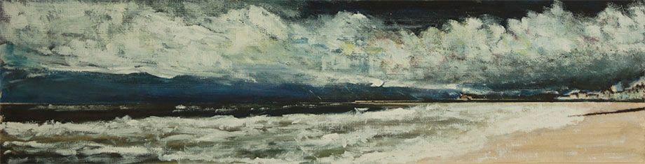 'Lyme Regis Panorama' - Acrylic on Card.