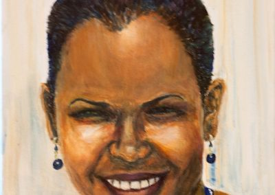 'Sarana' Manager of Paddy's Hardware Carriacou. Acrylic on Canvas. 25 x 30cm