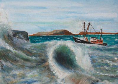 'Return to Lyme (2)' - Original Painting. Acrylic on Canvas. 30 x 20cm