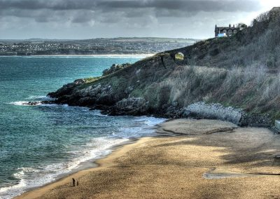 Porthminster Beach and St Earth Railway - St Ives