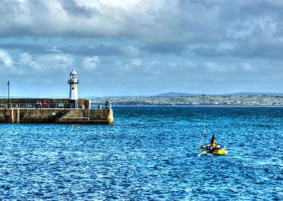 Leaving Harbour - St Ives