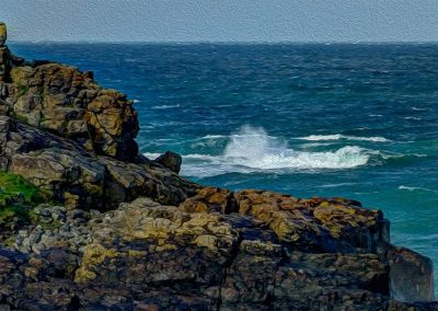 Rocks and Waves - Photo Art - St  Ives