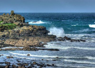 Porthmeor Rocks and High Waves - St Ives