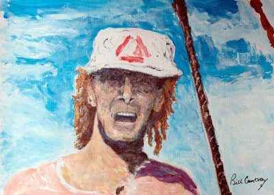 'Captain John Smith' - circa 1996. Acrylic on Card. 40 x 30cm