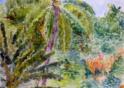 'Gilkes Village' - Barbados. Original Painting on Card. 20 x 30cm
