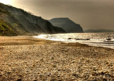 Golden Cap from Charmouth Beach - Dorset Moods