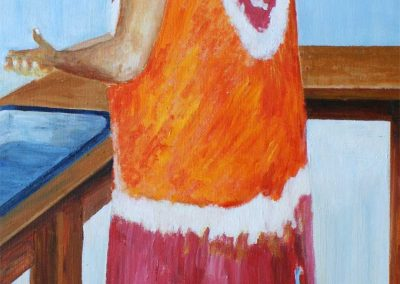 'Gracie' - Lifetime Friend in Carriacou. Acrylic on Canvas. 60 x 20cm.