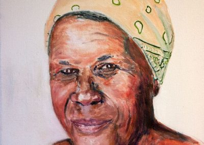 'Gracie' - Lifetime Friend in Carriacou. Acrylic on Canvas. 25 x 30cm.