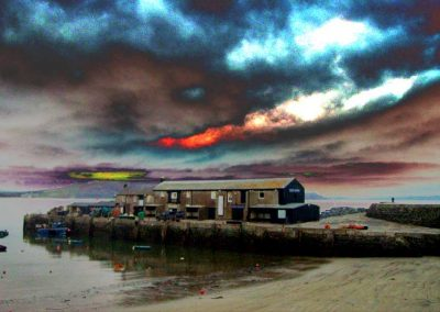 Long Pink Cloud - Lyme Regis Harbour - Dorset Moods