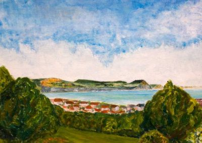 'Lyme Bay' - from the Nags Head Lyme Regis. Original Painting on Card. 40 x 30cm
