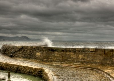 Storm Brewing - The Cobb Lyme Regis