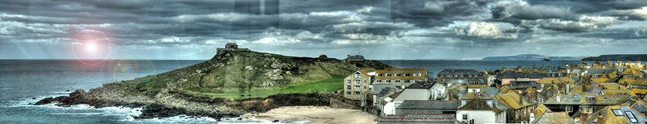 Panorama from Inside the Tate Gallery - St Ives