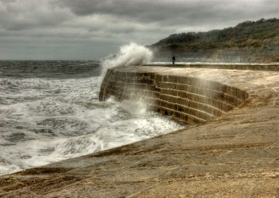 Wave Approaching - The Cobb Lyme Regis