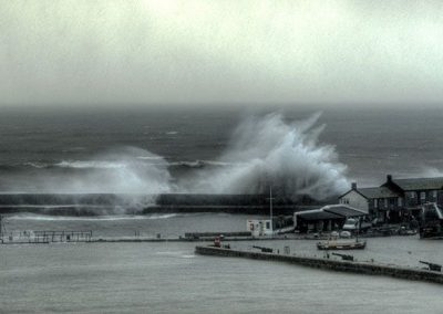 Strom Waves Break Over the Cobb Lyme Regis