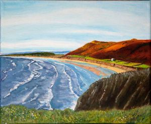 Rhossili Beach, S. Wales.