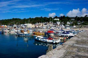 Lyme Regis Harbour.