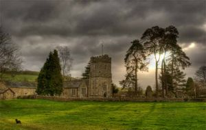 Dalwood Church with dog