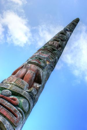 First nation Totem  Pole.