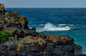 Rocks & Waves - Photo Art.