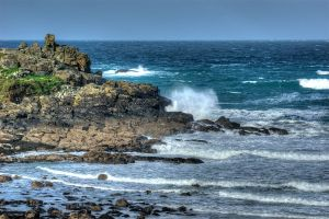 Porthmeor Rocks & High Waves.