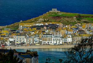 St Ives - Harbour, Town & Chapel.