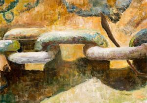 Mooring Chains - 40x30cm - Original Painting on Card