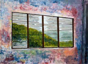 Caribbean Dawn - 40x30cm - Original Painting on Card