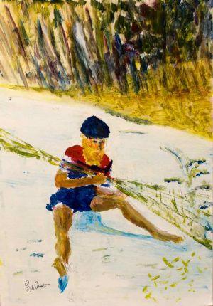 Mung-Mung - 20x30cm - Original Painting on Card