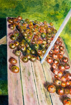 Autumn Harvest. -  30x40cm - Original Painting on Card
